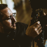 Photo of Martin Williams filming a wedding using Sony A7s camera